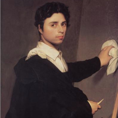 Jean-Auguste-Dominique Ingres Self-Portrait at 24 Years of Age (LEO Design)