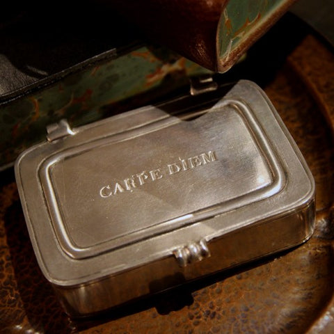 Italian Sand-Cast Pewter Carpe Diem Box (LEO Design)