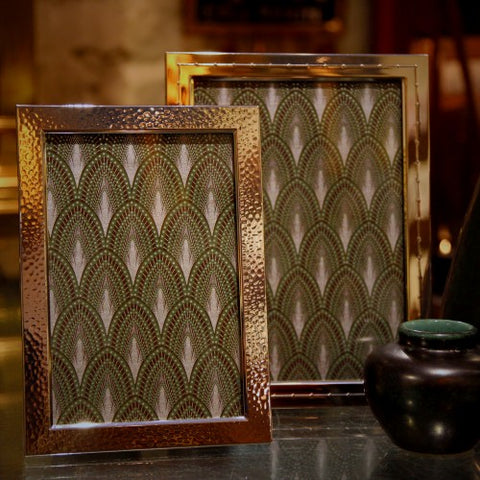 Collection of Italian Silver-Plated Frames with Mahogany Backs (LEO Design)