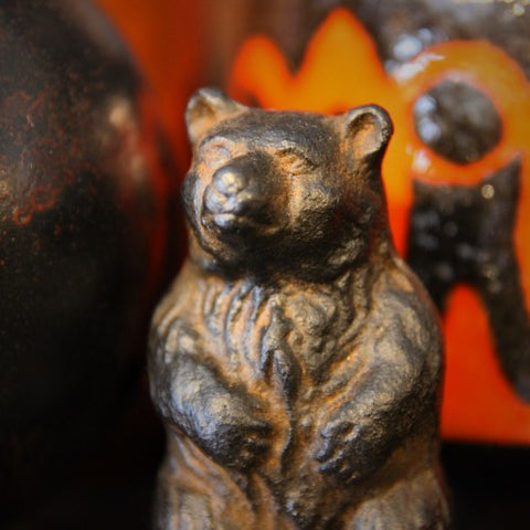 Japanese Cast Iron Bear Sculpture (LEO Design)