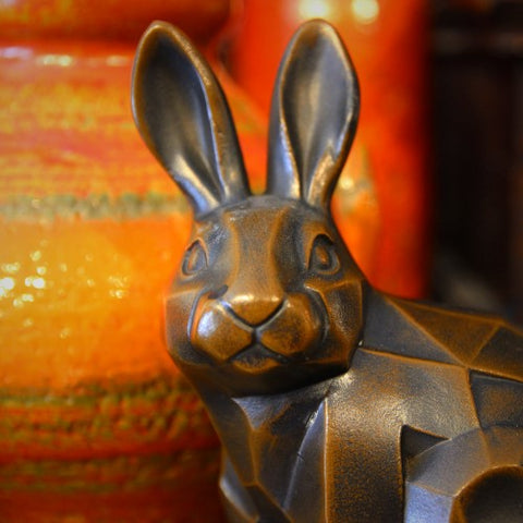 Japanese Cubist Zinc Rabbit (LEO Design)