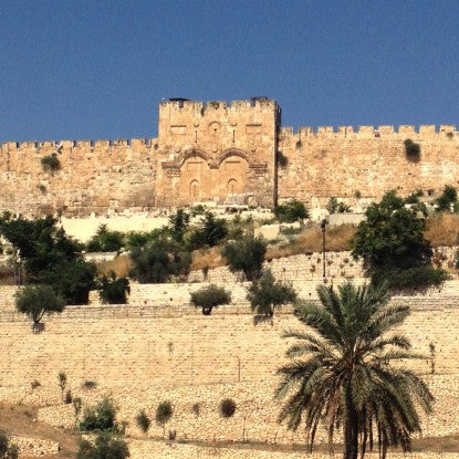 Jerusalem's Eastern Wall during Kimo's Holiday (LEO Design)
