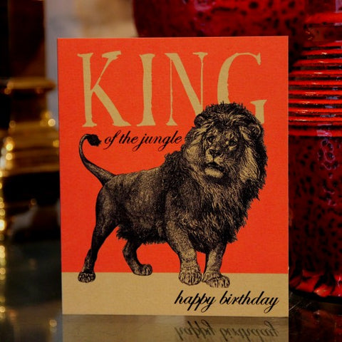 "British ""King of the Jungle"" Birthday Card (LEO Design)"