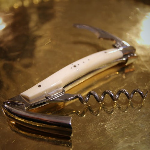 Laguiole French Stainless Steel Sommelier with Bone Handle (LEO Design)