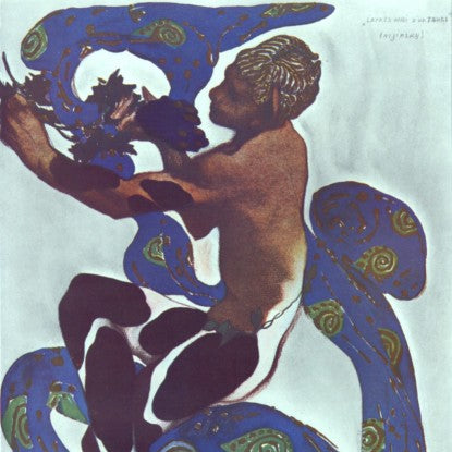"Nijinsky in ""Afternoon of a Faun"" Costume Design by Leon Bakst"