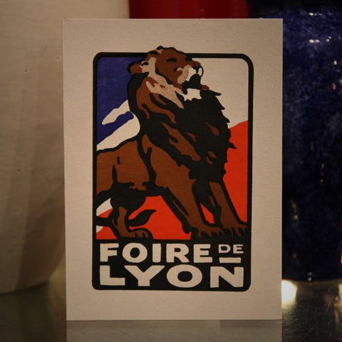 French Roaring Lion Letterpress Greeting Card (LEO Design)