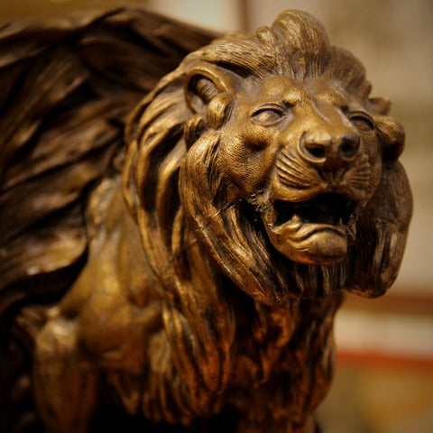 Lion Bookend by Bradley & Hubbard (LEO Design)