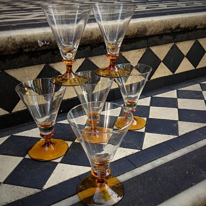 French Cocktail Glasses on a London Townhouse Step (LEO Design)