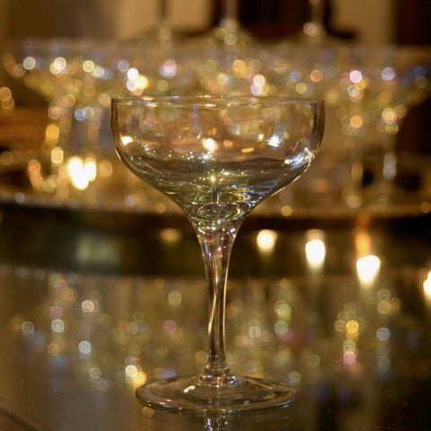 Set of Lustrous Crystal Champagne Coupes (LEO Design)