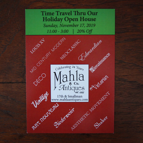 Mahla & Company Antiques 2019 Annual Open House Invitation (LEO Design)