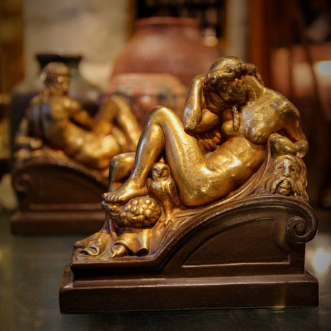"""Night"" Sculpture from Bronze Clad ""Night & Day"" Bookends after Michelangelo (LEO Design)"