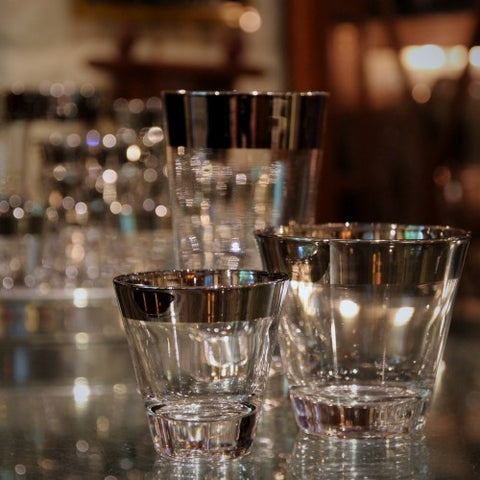 Wide Mirror-Rimmed Rocks, Highballs and Whiskey Glasses (LEO Design)