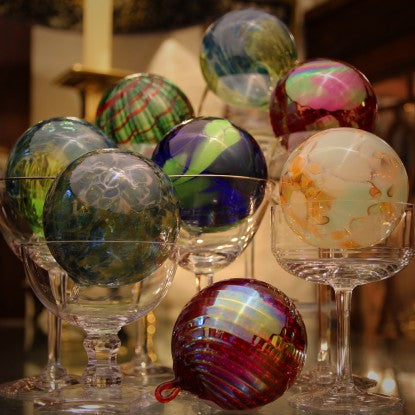 Mouth-Blown Art Glass Christmas Ornaments
