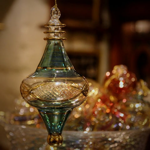 Egyptian Coptic Mouth-Blown Glass Christmas Ornaments (LEO Design)