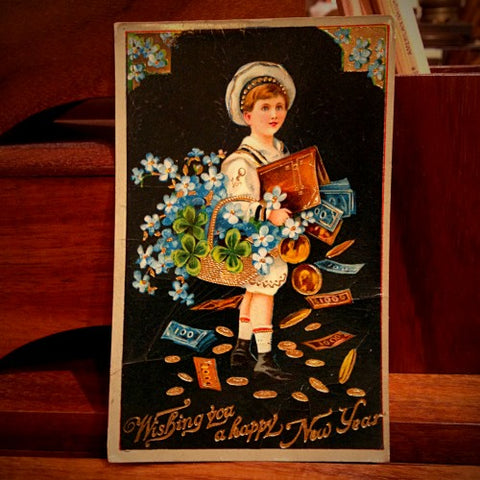 Vintage New Year's Greeting Card (LEO Design)