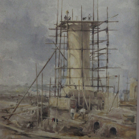 Watercolor of a North African Building Site by Frank Brangwyn (LEO Design)