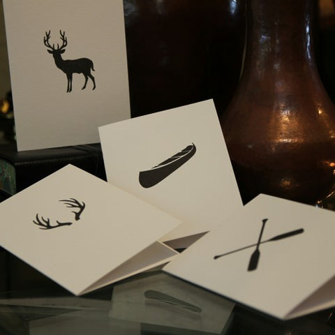 "Letterpress ""Outdoorsman"" Greeting Cards (LEO Design)"