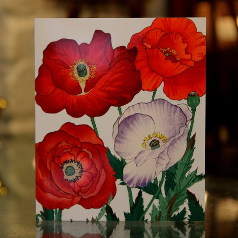 British Poppies Greeting Card (LEO Design)