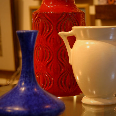Red, White & Blue Art Pottery at LEO Design-Handsome Gifts