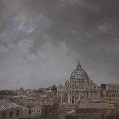The Roman Skyline with Saint Peter's Basilica by Robert Perdziola for Tosca (LEO Design)