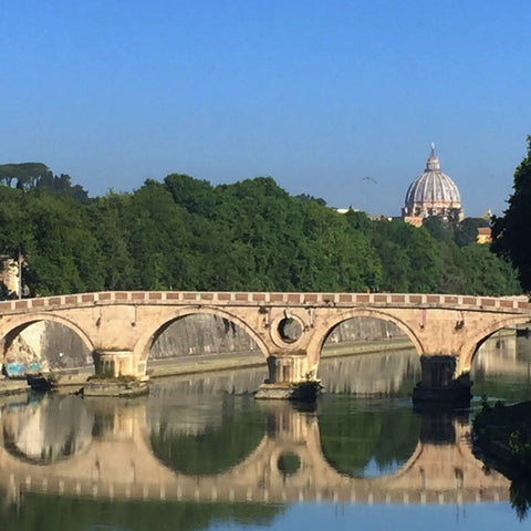 The Ponte Sisto Across the Tiber with Michelangelo's Dome of Saint Peter's Basilica in the Background (LEO Design)