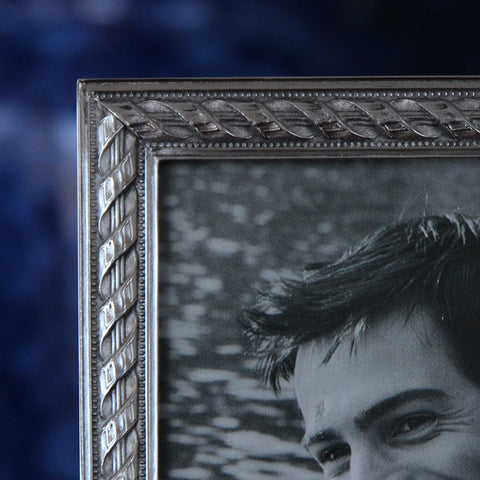 Cast Pewter Photo Frame (Detail) with Rope Border (LEO Design)