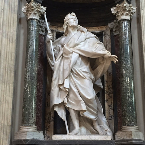 Sculpture of Apostle Saint James the Greater by Camillo Rusconi in San Giovanni in Laterano, Rome (LEO Design)