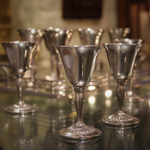 English Silver-Plated Wine Stems (LEO Design)