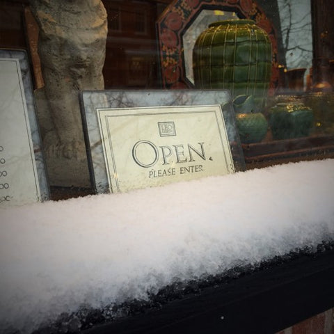 A Snow Day—Yet We're Open!—at LEO Design