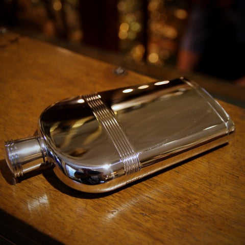 Stainless Steel Flask with Ribbed Banding (LEO Design)