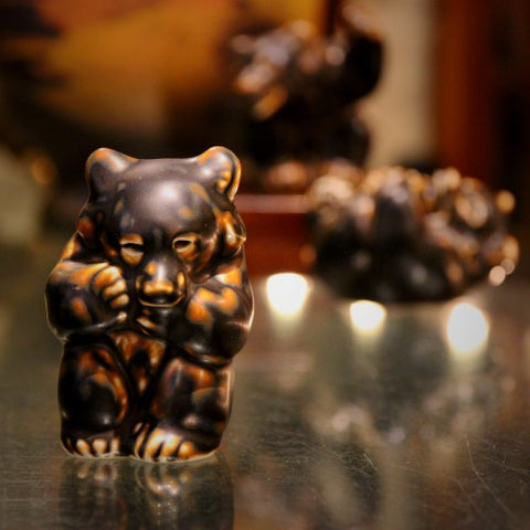 A Trio of Little Brown Bears by Knud Kyhn for Royal Copenhagen (LEO Design)