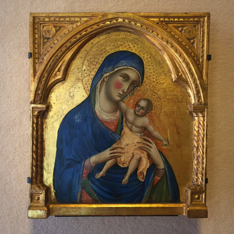 "Medieval Venetian Painting of ""The Virgin and The Child"" by Paolo Veneziano in Avignon, France (LEO Design)"