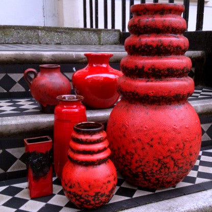 West German Red Ceramics on a London Stoop (LEO Design)