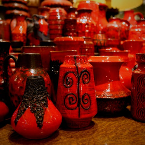 Collection of Red Ceramics at LEO Design