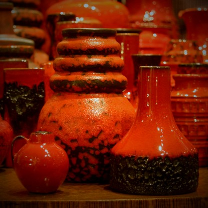 Collection of Red Art Pottery (LEO Design)