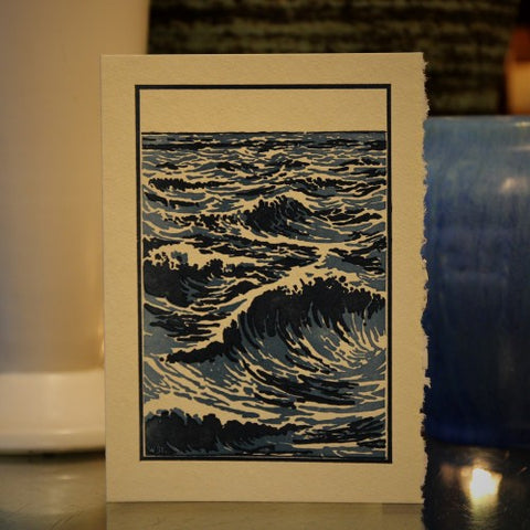Open Sea Letterpress Greeting Card (LEO Design)