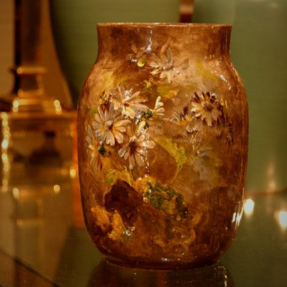 French Vase with Hand-Painted Impressionistic Floral Decor (LEO Design)