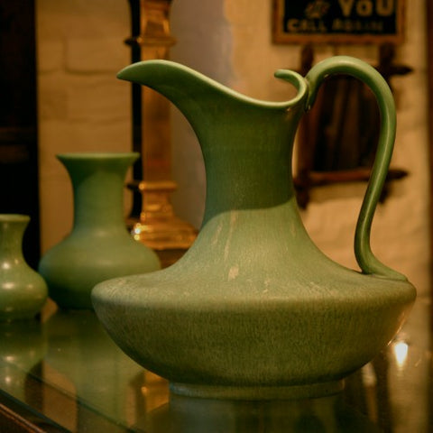 Hampshire Arts & Crafts Matte Green Ewer (LEO Design)