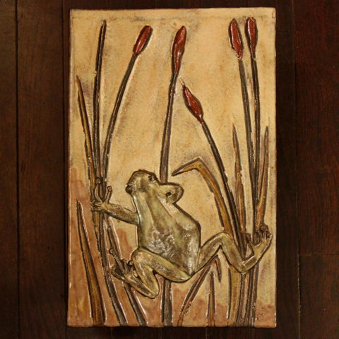 Ruscha West German Modernist Tree Frog Wall Plaque (LEO Design)