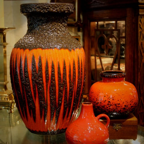 West German Ceramics in Orange (LEO Design)