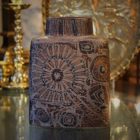 "Royal Copenhagen ""Baca"" Vase with Batik Design by Nils Thorsson (LEO Design)"