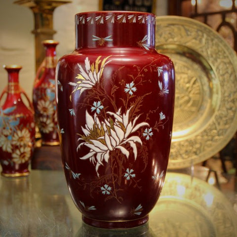 French Hand-Painted and Enameled Orientalist Vase by Keller & Guerin (LEO Design)