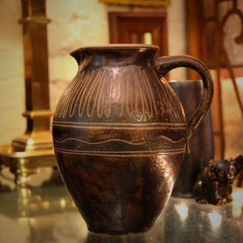 German Hand-Thrown and Incised Pitcher by Elfriede Balzar-Kopp (LEO Design)