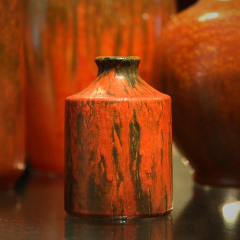 "Ruscha West German Vase with ""Vulcano"" Glaze by Otto Gerharz (LEO Design)"