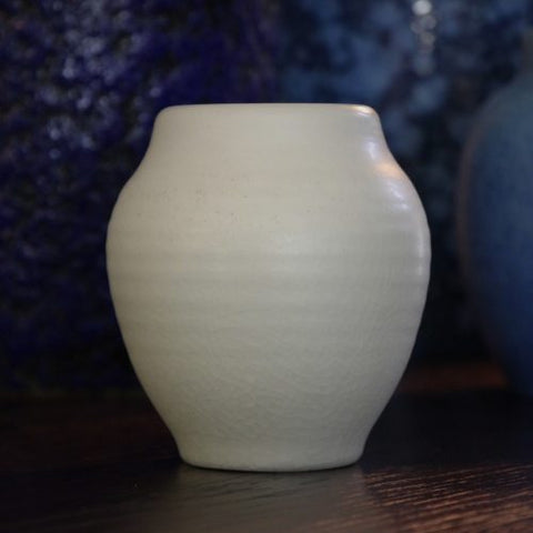 Pilkington Royal Lancastrian English Art Deco White Vase by Edward Thomas Radford (LEO Design)
