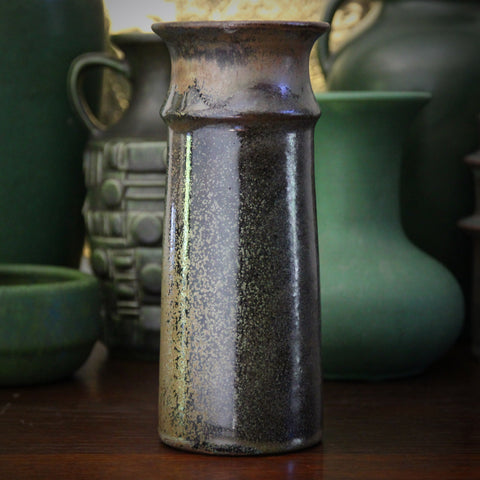 Baumfalk West German Vase with Crystalline Green and Metallic Glaze (LEO Design)