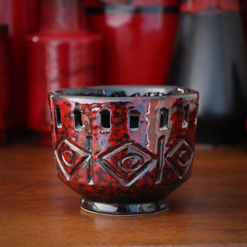 Fratelli Fanciullacci Italian Hand-Incised and Pierced Pot (LEO Design)