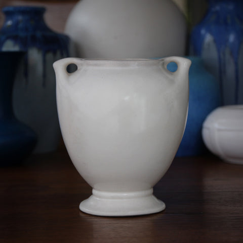 Matte White Art Nouveau Ceramic Vase (LEO Design)