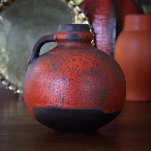 Carstens Modernist Jug with Burnt Reddish/Orange Glaze by Gerda Heuckeroth (LEO Design)