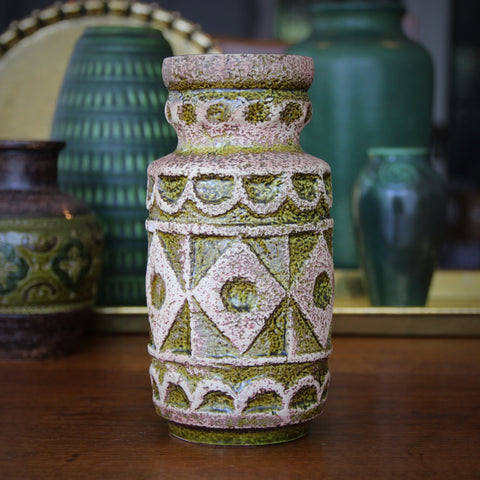 Bay Tribal Vase with Citrus Green and Corlk-like Glazing (LEO Design)